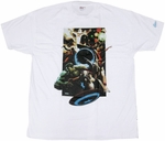 Marvel Group Blue Orb T-Shirt