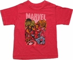 Marvel Hero Stack Burnout Toddler T Shirt