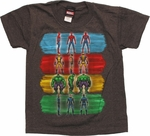 Marvel Paint Strokes Charcoal Juvenile T Shirt