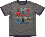 Marvel Pixel Hero Lines Mesh Youth T Shirt