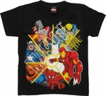 Marvel Split Direction Juvenile T-Shirt