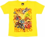 Marvel Superheroes Juvenile T Shirt