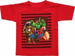 Marvel Team Lines Toddler T Shirt