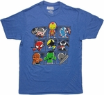 Marvel Toys Grid Heather Blue T Shirt Sheer