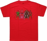 Marvel Villains Line Up T Shirt