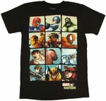 Marvel vs Capcom Boxes T-Shirt Sheer