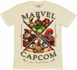 Marvel vs Capcom Brawlers T Shirt Sheer