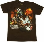Marvel vs Capcom Carnival T Shirt Sheer