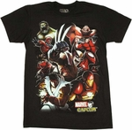 Marvel vs Capcom Group T-Shirt Sheer