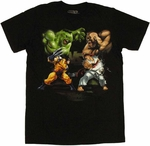 Marvel vs Capcom Tag Team T Shirt Sheer