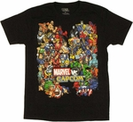 Marvel vs Capcom Team T Shirt Sheer