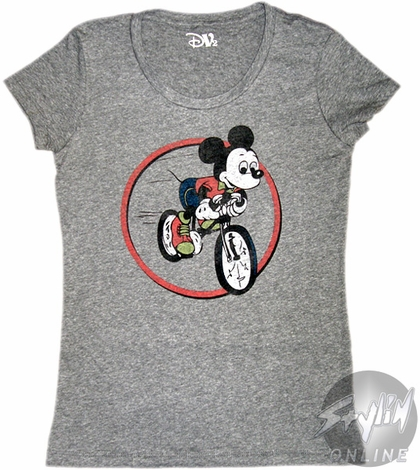 Mickey Mouse Bicycle Baby Tee
