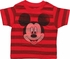 Mickey Mouse Face Striped Red Infant T-Shirt