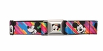 Mickey Mouse Faces Rainbow Seatbelt Mesh Belt