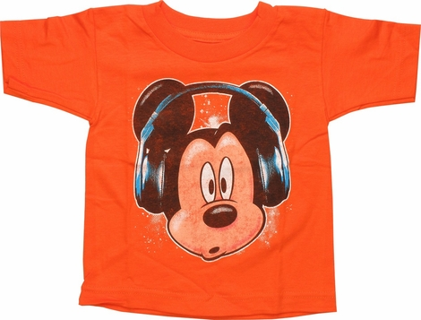 Mickey Mouse Headphones Toddler T-Shirt