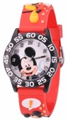 Mickey Mouse Kids 3D Plastic Red Watch