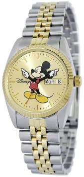 Mickey Mouse Mens Two-Tone Bracelet Watch