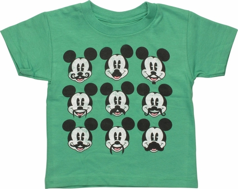 Mickey Mouse Mustache Faces Toddler T-Shirt