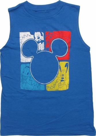 Mickey Mouse Silhouette Sleeveless Juvenile Shirt