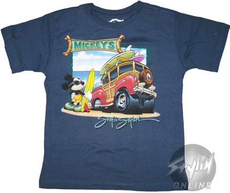 Mickey Mouse Surfin Youth T-Shirt