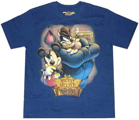 Mickey Mouse Vs Pete T-Shirt