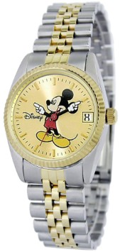 Mickey Mouse Womens Two-Tone Bracelet Watch