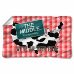 Middle Been There Fleece Blanket