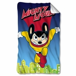 Mighty Mouse City Watch Fleece Blanket