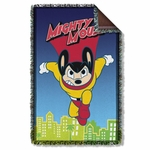 Mighty Mouse City Watch Throw Blanket