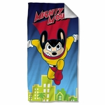 Mighty Mouse City Watch Towel