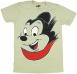 Mighty Mouse Face T-Shirt Sheer