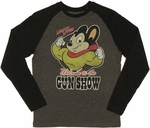 Mighty Mouse Gun Show Raglan T Shirt
