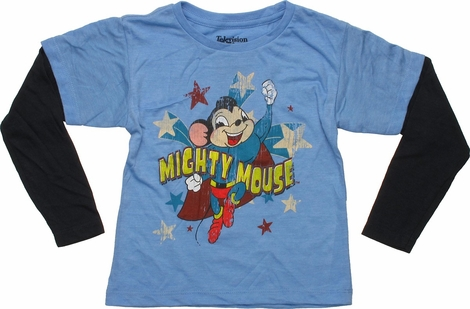 Mighty Mouse Patriotic Long Sleeve Toddler T-Shirt