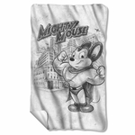 Mighty Mouse Sketch Fleece Blanket