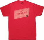 Miller High Life 1903 Label T Shirt Sheer