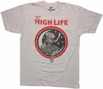 Miller High Life Moon Girl T Shirt Sheer