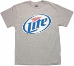Miller Lite Logo Heather Gray T Shirt