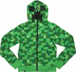 Minecraft Creeper Costume Youth Hoodie
