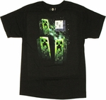 Minecraft Creeper Moon T Shirt