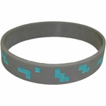 Minecraft Diamond Rubber Wristband