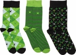 Minecraft Green Black 3 Pair Socks Set