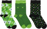 Minecraft Green Black Youth 3 Pair Socks Set