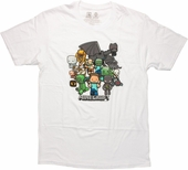 Minecraft Group White T-Shirt