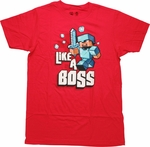 Minecraft Like a Boss T-Shirt