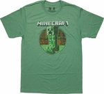Minecraft Retro Creeper Green T-Shirt