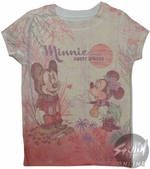 Minnie and Mickey Girls T-Shirt