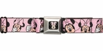 Minnie Mouse Faces Polka Dots Seatbelt Belt
