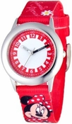Minnie Mouse Kids Stainless Steel Red Watch