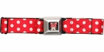 Minnie Mouse Polka Dots Seatbelt Mesh Belt