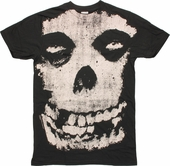 Misfits Huge Vintage Skull T Shirt Sheer